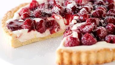 Vanilla Bean and Raspberry Tart