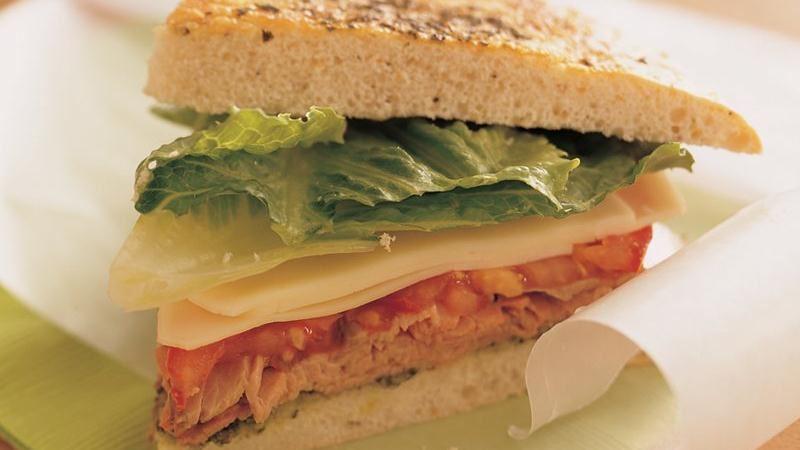 Beef and Provolone Focaccia Sandwiches