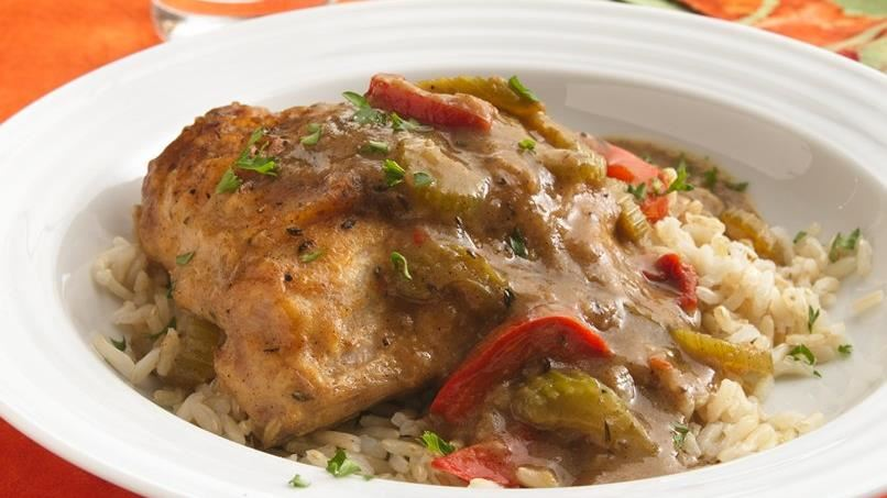 Smothered Chicken and Gravy (Makeover)