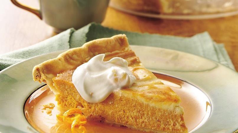 Orange Cream Cheese Swirl Pumpkin Pie