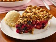 Berry-Pear Crisp Pie