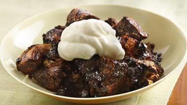 Triple-the-Chocolate Bread Pudding