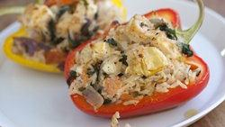 Rice and Kale Stuffed Peppers
