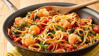 Spicy Chile-Garlic Shrimp Pasta