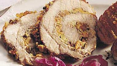 Apricot-Pistachio Rolled Pork