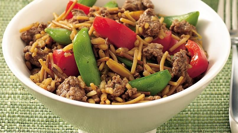 Gingered Rice and Beef