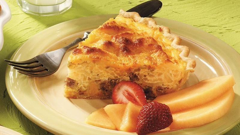 Cheesy Sausage and Potato Supper Quiche