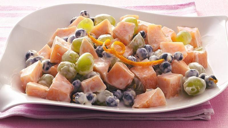 Fresh Fruit with Orange Sour Cream