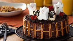 PEEPS® Ghosts in a Graveyard Cake