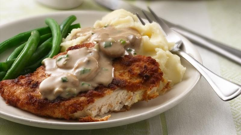 Chicken Breasts with Creamy Mushroom Gravy recipe from ...