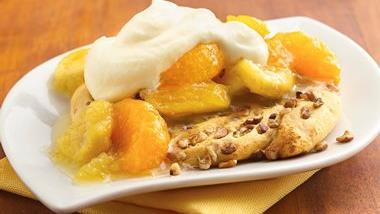 Tropical Sunshine Flatcakes with Orange Cream