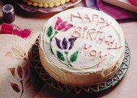 Stencil Birthday Cake