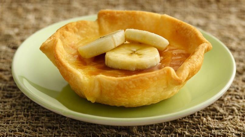 White Chocolate-Banana Crème Brûlée Tarts