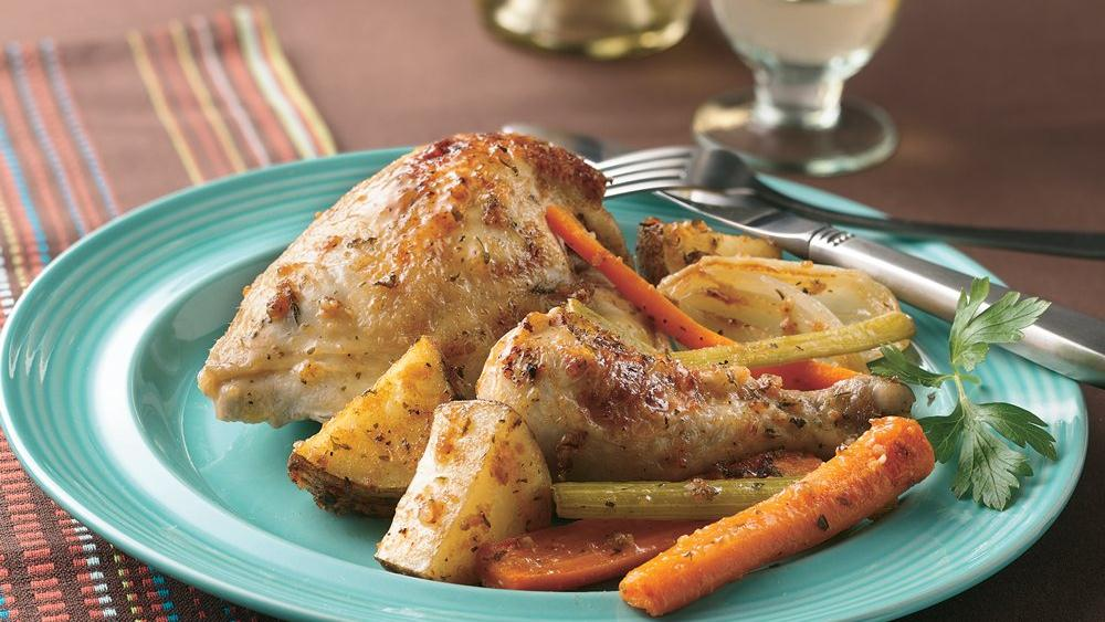 Herb and Garlic Chicken and Vegetables