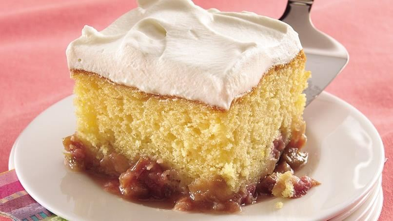 Honey-Rhubarb Cake
