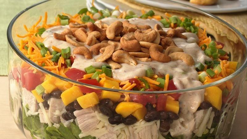 Gluten-Free Layered Caribbean Chicken Salad