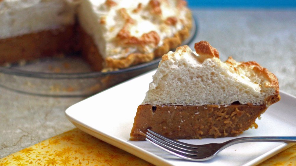 Sweet Potato Pie with Maple Meringue