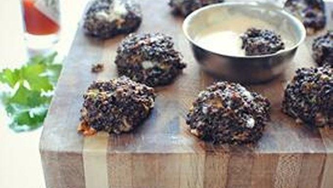 Cheesy Black Quinoa Bites