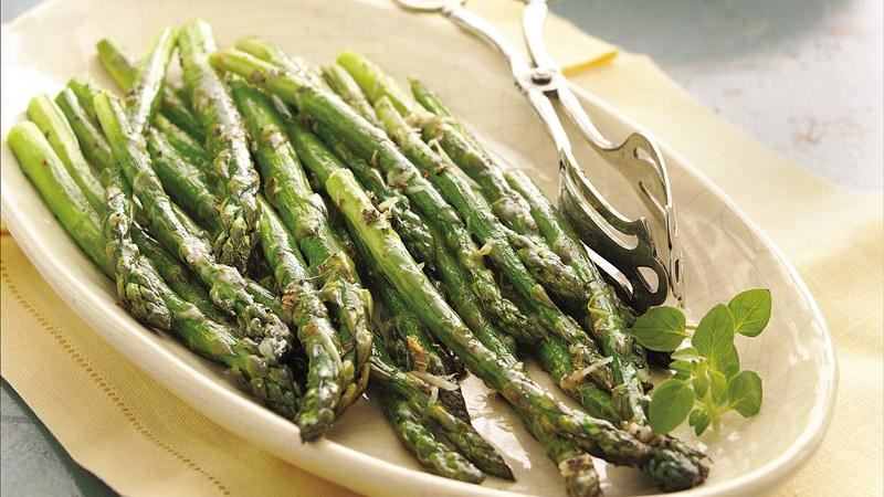 Pan Roasted Asparagus With Garlic And Parmesan Recipes — Dishmaps
