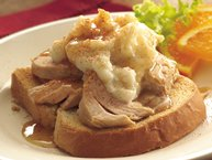Slow-Cooker Open-Face Turkey Dinner Sandwiches