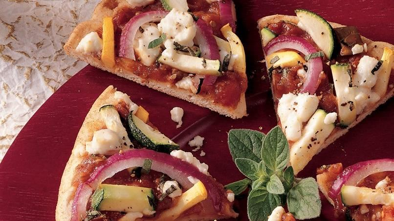 Ratatouille Appetizer Pizza