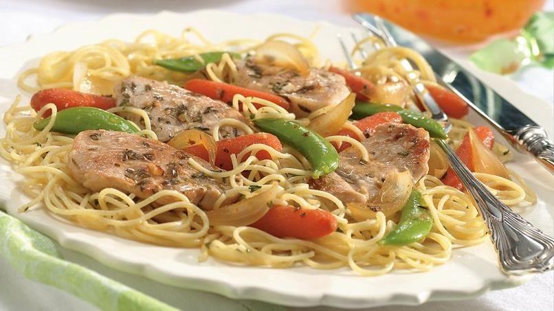 Turkey Scaloppine with Vegetables
