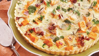 Roasted Sweet Potato and Onion Tart