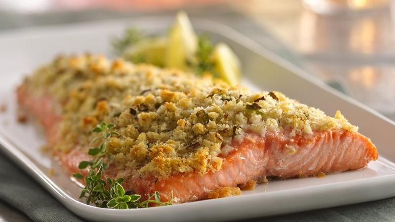 Lemon And Parmesan Crusted Salmon Recipe From Betty Crocker