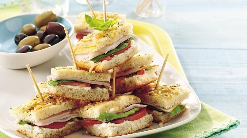 Mini Turkey Focaccia Sandwiches
