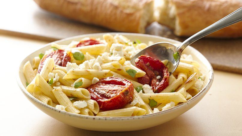 Roasted Garlic and Tomato Mostaccioli