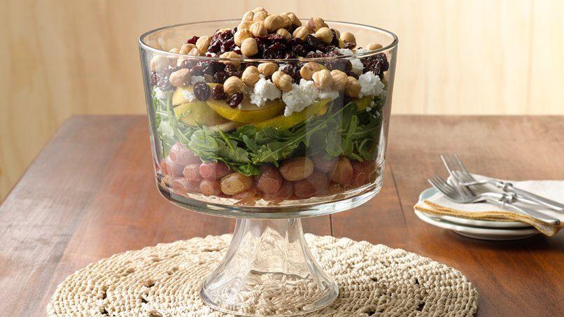 Layered Fruit and Arugula Salad