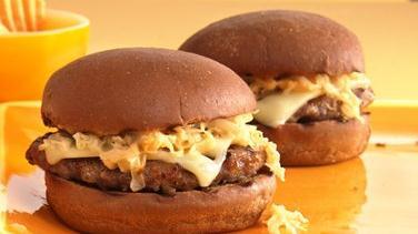 Reuben Bratwurst Burgers