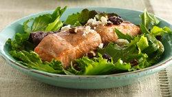 Cinnamon-Maple Glazed Salmon Salad