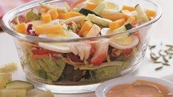 Layered Seafood Chef Salads