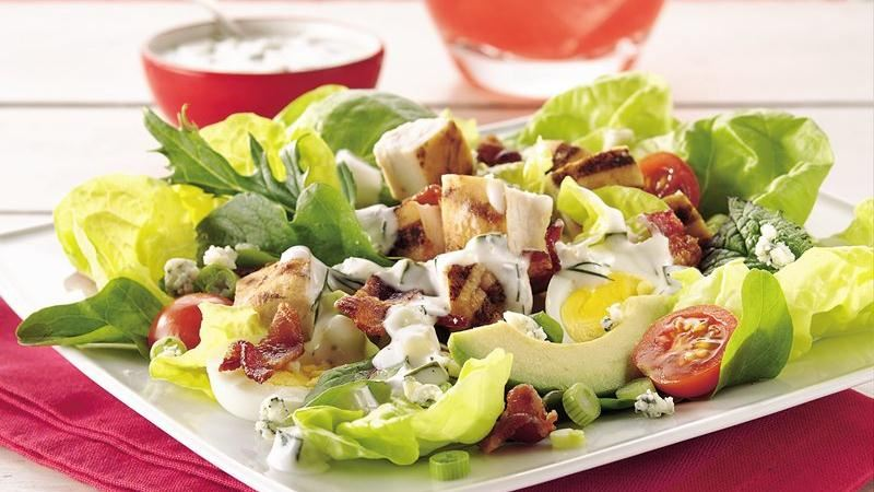 Cobb Salad with Cucumber-Ranch Dressing