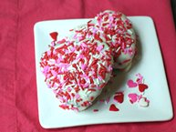 Mini Raspberry-Chocolate Heart Cakes