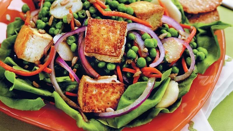 Pea, Carrot and Tofu Salad
