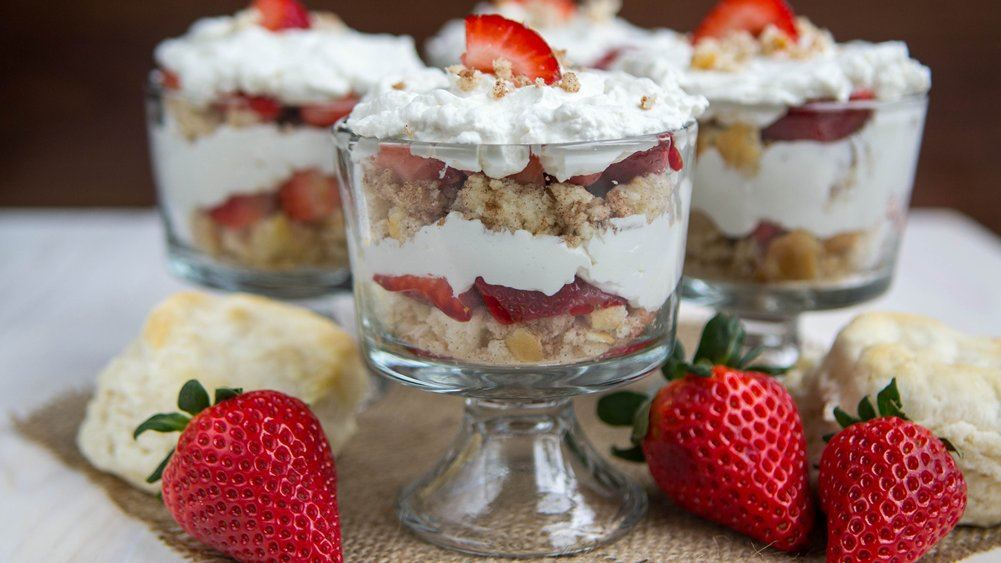 Strawberries and Cream Mini Biscuit Trifles recipe from Pillsbury.com