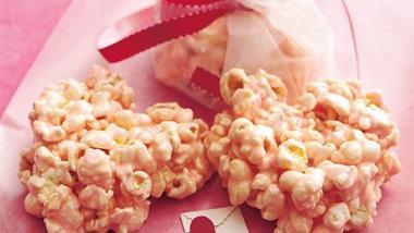 Puffy Pink Popcorn Hearts