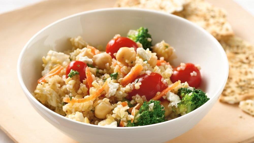 Mediterranean Vegetable Bulgur Salad