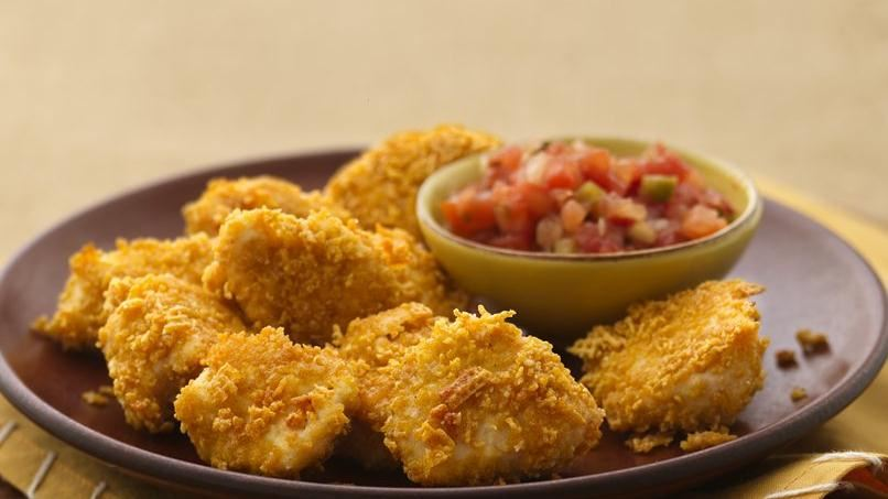 """""""Nuggets"""" de Pollo Empanizados"""