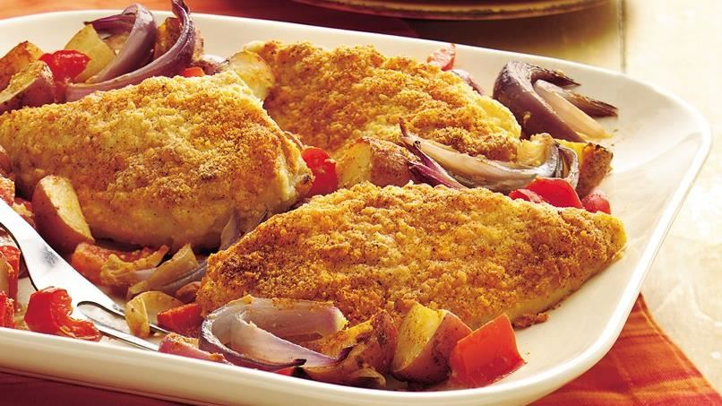 Savory Baked Chicken and Potato Dinner