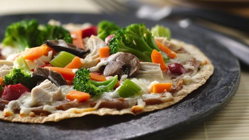 Thai Chicken Pizzas