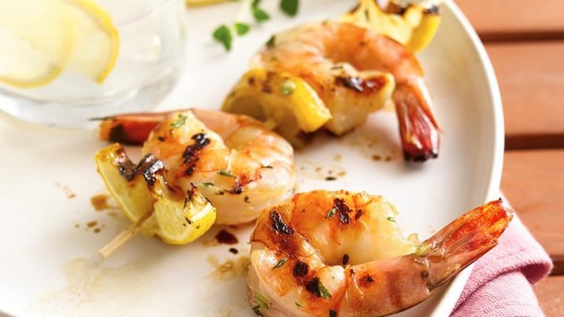 Grilled Honey-Herb Shrimp