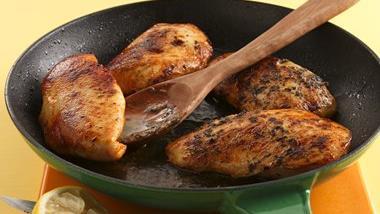 Lemon-Basil Skillet Chicken with Rice