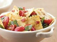 Bacon-Tomato-Spinach Ravioli Toss