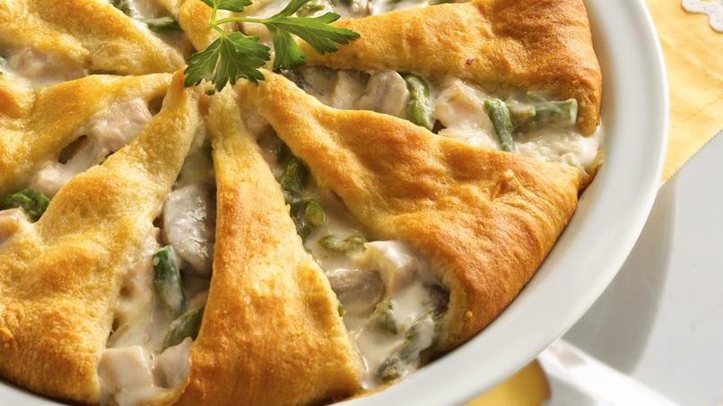 Asparagus and Turkey Pie