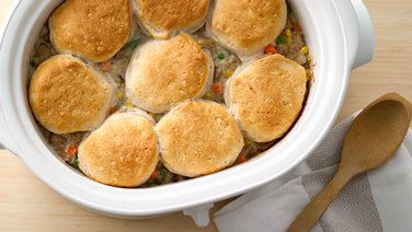 try these next slow cooker biscuit chicken pot pie cooking for two