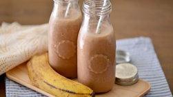 Licuado de Mantequilla de Maní, Banana y Cacao