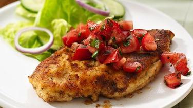 Quick Chicken Bruschetta